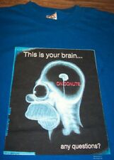 VINTAGE The Simpsons HOMER SIMPSON Donuts Brain T-shirt LARGE