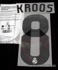 Real Madrid Kroos 8 La Liga Football Shirt Name Set 2014/15 Home