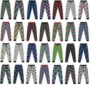Mens Licensed Character Lounge Pants Pyjamas Bottoms Animal Batman Size S M L XL