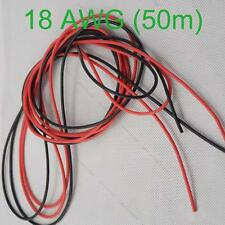 18 AWG 50m Gauge Silicone Wire Flexible Stranded Copper #L Cables for RC Wiring