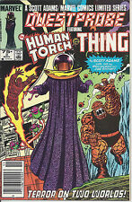 Questprobe #3 of 3 (Nov 85) -Human Torch & the Thing -actual bar code w/o Spidey