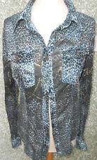 20 229/11 Etoile du monde blusa de mujer talla S Azul Petróleo Marrón Blanco