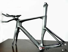 52cm BB30 Carbon Time Trial Bike Frame Fork Handlebar UD Di2 Triathlon TT brake