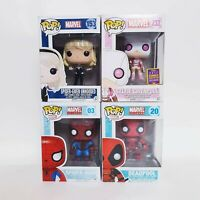 Marvel MCU Spider-man + Deadpool + Gwen Lot of 4 x Funko Pop Vinyl Bundle