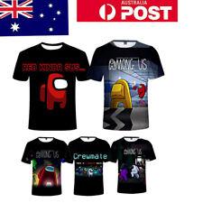 Unisex Kids Adult Among Us 3D Casual T-Shirt  Short Sleeve Tee Tops Xmas Gift AU