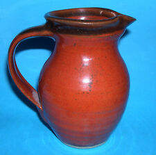 Studio Pottery Marked CP - Attractive Red Shiny Glaze Classic Designed Jug.