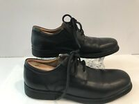 GEOX Shoes Man Black Leather Lace Up US Size 7.5 EU 40