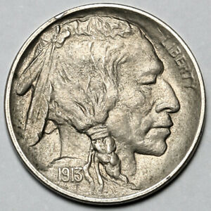 1913 UNITED STATES COPPER NICKEL BUFFALO NICKEL 5 FIVE CENTS COIN