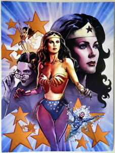 LINDA CARTER / WONDER WOMAN Collage Print
