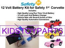 NEW! 12V LONG RANGE REPLACEMENT OEM BATTERY KIT FOR THE SAFETY 1ST CORVETTE CAR