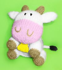 KNITTING PATTERN - Gertrude the Cow Choc Orange cover / 15 cms Farm Animal toy