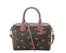 c7ba112b8b38 Coach F59461 Mini Bennett Satchel Bag Signature C Ranch Floral Brown Multi  Purse