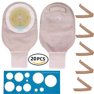 Ostomy Colostomy Ileostomy Stoma Drainable Pouch Bag Cut to Fit One-Piece System