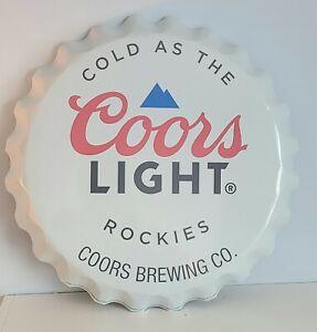 18 Inch Coors Light Bottle Cap Sign