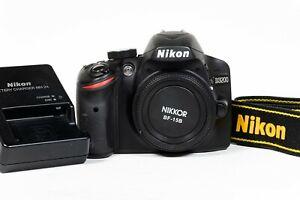 Nikon D3200 DSLR Camera - 1080p HD Video - Body Only - Shutter Count 3,886