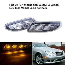 Lens LED Side Marker Light Bumper Turn Signal Lamps For Benz W203 C-Class 01-07