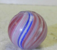 #10908m Vintage German Handmade Onionskin Marble .56 Inches *Near Mint*