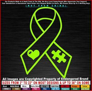 Autism Ribbon (Cancer type) Awareness Super Hero Children Sticker Decal