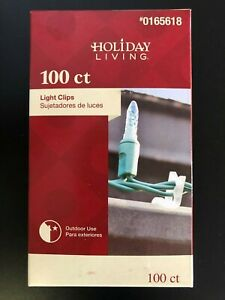 100 Count - Gutter / Shingle Light Clips