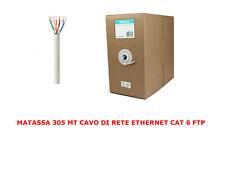 MATASSA 305 MT METRI CAVO RETE FTP CAT 6 LAN ETHERNET BOBINA INTERNET ADSL 300