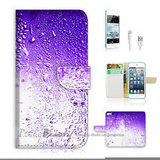 ( For iPod 5 / itouch 5 ) Flip Case Cover! P1542 Purple Water Drop