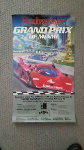 IMSA Budweiser Grand Prix of Miami 1983 Poster Porsche Corvette Ferrari GTP MINT