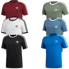 Adidas Originals Mens T Shirt 3 Stripes Crew Top TShirt T-Shirt Cotton Jersey