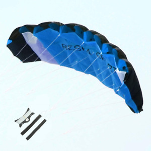 Besra Huge 74inch Dual Line Parachute Stunt Kite with Flying Tools 1.9m Power