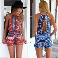 mono traje corto fiesta Sexy Rompers Casual Backless Beach Party Jumpsuit