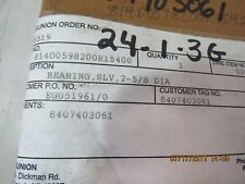 UNION PUMP SLEEVE 814D0598200R15400 NEW IN BOX