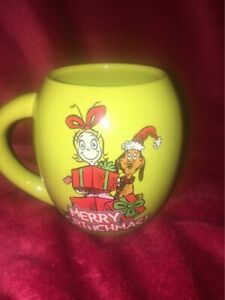 THE GRINCH Christmas OVAL Mug HOLIDAY GIFT 18 oz. Vandor