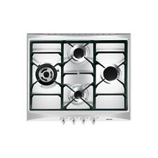 Smeg Cucina 60cm Stainless Steel 4 Burner Gas Hob with New Style Controls