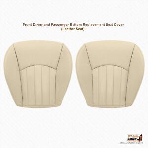2006 2007 Jaguar X-Type Front Driver & Passenger Bottom Leather Seat Cover Tan