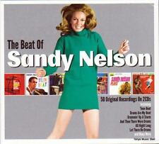SANDY NELSON - THE BEST OF - 50 ORIGINAL RECORDINGS (NEW SEALED 2CD)