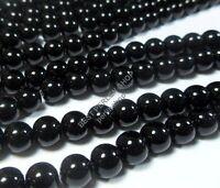 1 Strang Onyx Perlen Schwarz 12mm Poliert Halbedelstein RUND Edelstein BEST G185