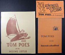 Tom Poes Marten Toonder 3 volumes TBE
