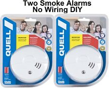 Quell Smoke Alarm- Photoelectric DIY Kit of two Protect your family Plus gift
