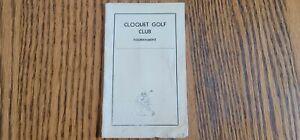 Vintage tournament Golf Scorecard from Cloquet Golf Club CloquetMinnesota 1930's