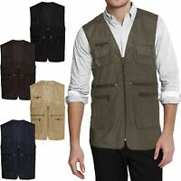 MENS GILET BODY WARMER ACTION WAIST COAT COUNTRY HUNTING FISHING SAFARI TOP VEST