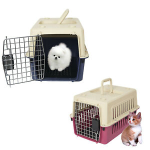 Kariyer Small Dog Cat Crate Plastic Pet Carrier Kennel Airline Travel Tote Cage