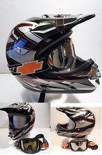 Pure Polaris RMK ATV UTV HELMET & Spy Goggles SMALL 55-56cm Snell Motocross EUC