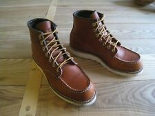 RED WING SHOES 875 CLASSIC MOC TOE BOOT ORO LEGACY LEATHER US 8 EU 41 UK 7