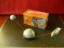 Scarce Philipp Niedermeier PN130 Tin Wind-up Space Satellite Rocket w/ Or. Box