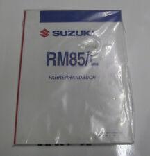 SUZUKI RM 85 Mod.03 Reparaturanleitung-Handbuch Bedienungsanleitung Fahrerbuch