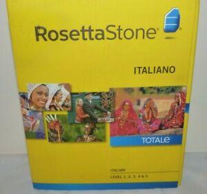 ROSETTA STONE 31604 Version 4 Italian Audio Companion Level 1-5 Italiano