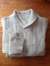 DOCKERS Sample Collared Sweater Oatmeal/Beige Size M New Sample