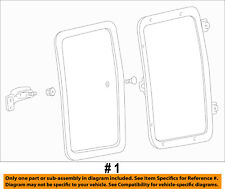Ford Oem 99-16 F-350 Super Duty Rear Door-Glass Assembly Left 9C3Z2825713A