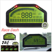 Car Dash Race Display - OBD2 Bluetooth, Dashboard LCD Screen Digital Rally Gauge