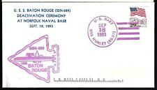 1993 USS Baton Rouge SSN 689 Ship Cover  a
