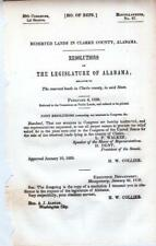 Legislature of Alabama - Resolutions-Reserved Lands in Clarke County